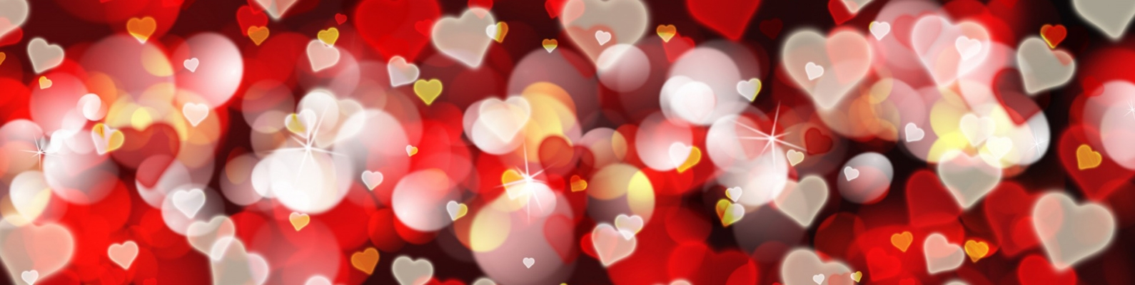 bokeh, background, love, romantic, сердечки, hearts, Valentine's Day, red
