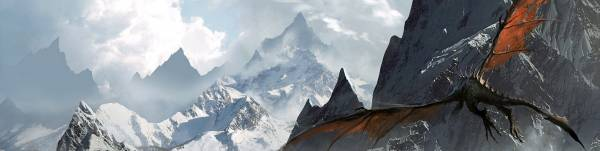 dragon, The Elder Scrolls V Skyrim, горы