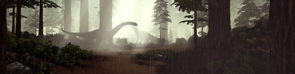 ARK Survival Evolved, game, forest, rain