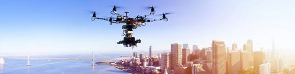 drone, city, sensors, technology
