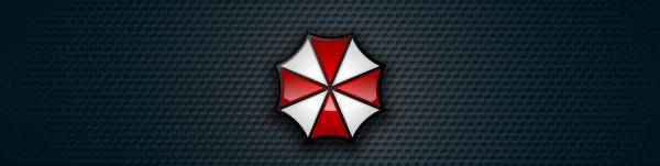 logo, Biohazard, Resident Evil, Umbrella Corp., evil, Our Business is Life Itself, Umbrella Corporarion, RE, cross, Umbrella, by kalangozilla, red